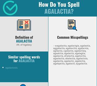 Correct spelling for agalactia