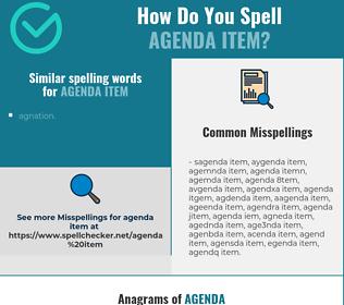 Correct spelling for agenda item
