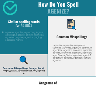 Correct spelling for agenize