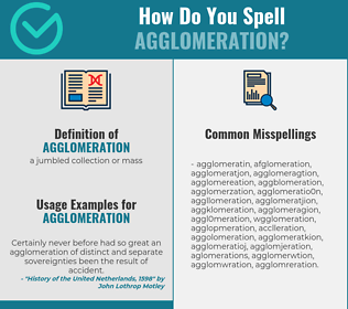 Correct spelling for agglomeration