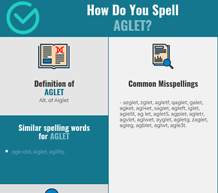 Correct spelling for aglet