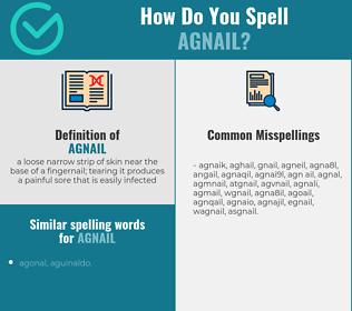 Correct spelling for agnail