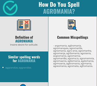 Correct spelling for agromania