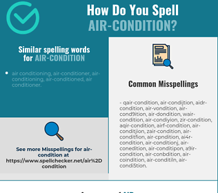 Correct spelling for air-condition