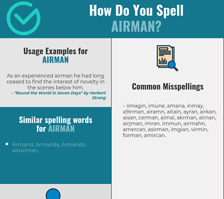Correct spelling for airman