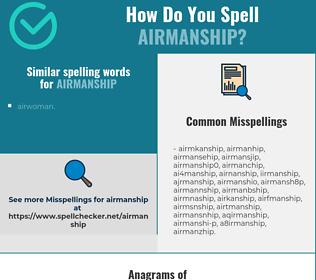 Correct spelling for airmanship