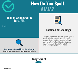 Correct spelling for ajaia