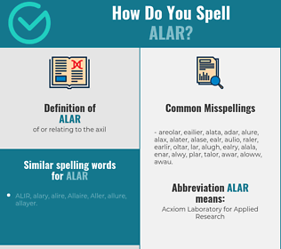 Correct spelling for alar
