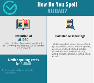 Correct spelling for alidad