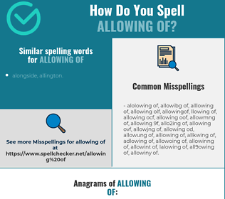 Correct spelling for allowing of