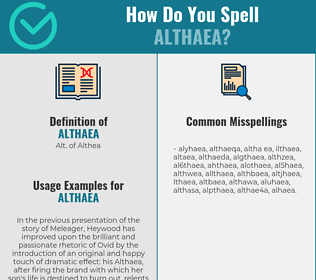 Correct spelling for althaea