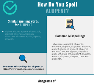 Correct spelling for alupent