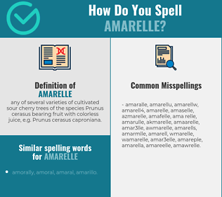 Correct spelling for amarelle