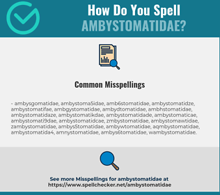 Correct spelling for ambystomatidae