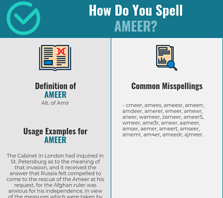 Correct spelling for ameer