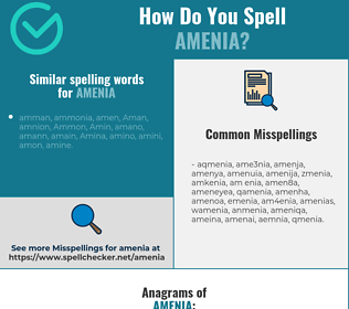 Correct spelling for amenia