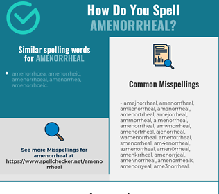 Correct spelling for amenorrheal