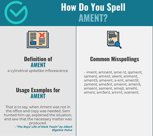 Correct spelling for ament