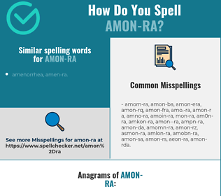 Correct spelling for amon-ra