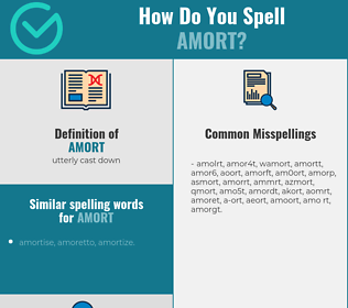 Correct spelling for amort