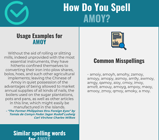 Correct spelling for amoy