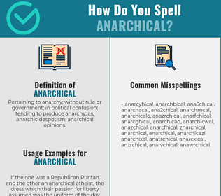 Correct spelling for anarchical