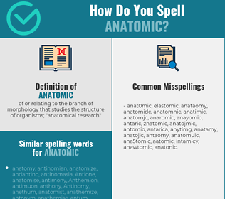 Correct spelling for anatomic