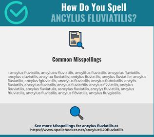 Correct spelling for Ancylus Fluviatilis