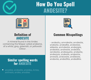 Correct spelling for andesite