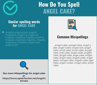Correct spelling for angel cake