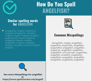 Correct spelling for angelfish