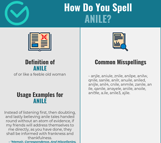 Correct spelling for anile