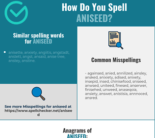 Correct spelling for aniseed