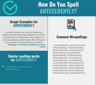 Correct spelling for antecedently