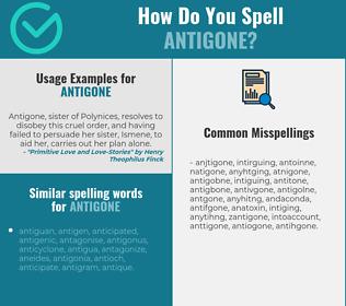 Correct spelling for antigone