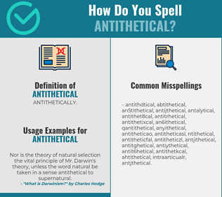 Correct spelling for antithetical