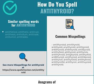Correct spelling for antithyroid