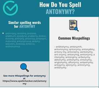Correct spelling for antonymy