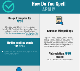 Correct spelling for apsu