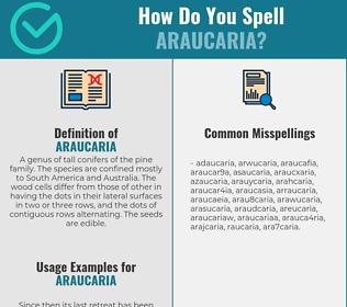 Correct spelling for araucaria
