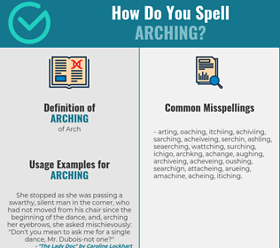 Correct spelling for arching