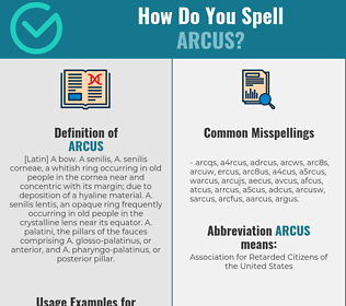 Correct spelling for arcus