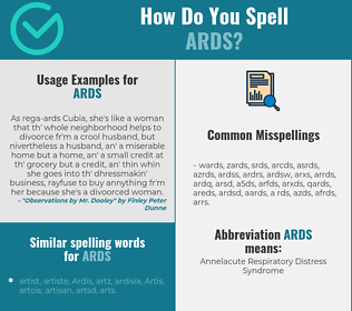 Correct spelling for ards