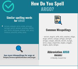 Correct spelling for argo
