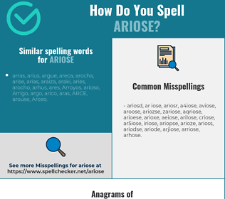 Correct spelling for ariose