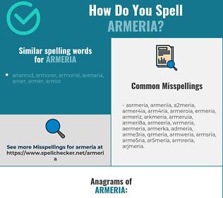 Correct spelling for armeria