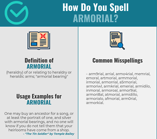 Correct spelling for armorial