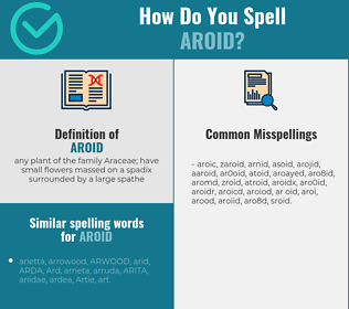 Correct spelling for aroid