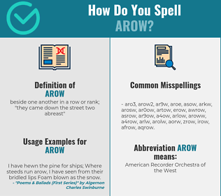 Correct spelling for arow