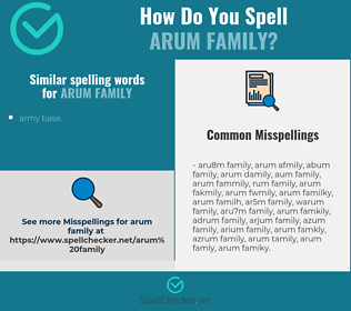 Correct spelling for arum family